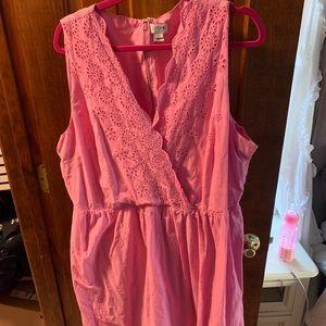 Jcrew pink eyelet dress